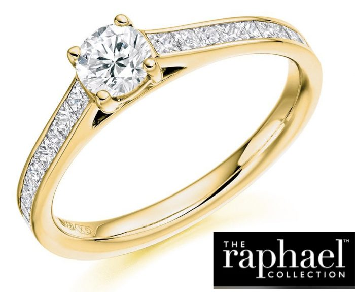 Raphael 18ct Yellow Gold Shank & White Gold Head Diamond Solitaire With Certified Stone Cut :