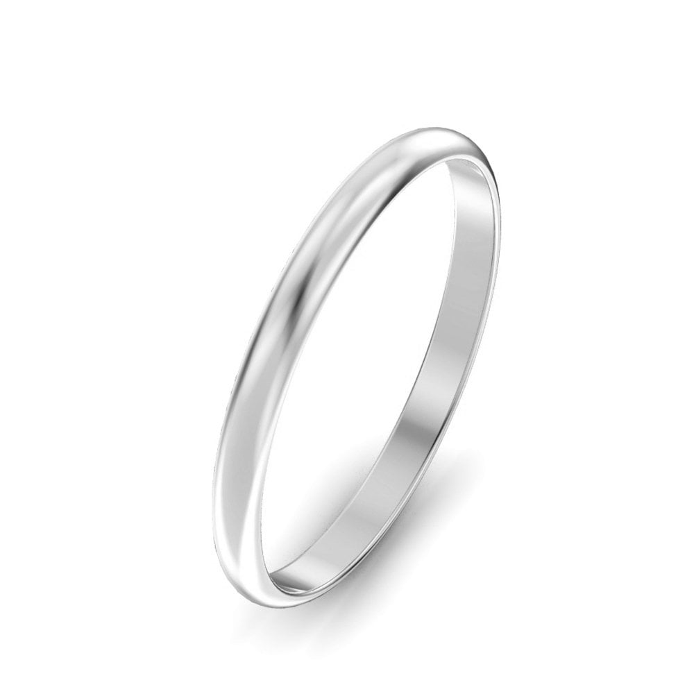 Wedding Rings 9ct White Gold Ladies D-Shape 2mm Wedding Ring Size ... 3b2d9fba8afa