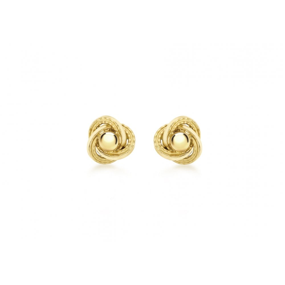 a3c1192ac Gerry Browne Gold 9ct Yellow Gold Knot Stud Earrings - 8mm - Gift ...