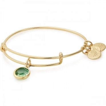 939a6a1f2 Alex & Ani August Yellow Gold Plated Bangle - Swarovski - Gift Boxed -  Expandable