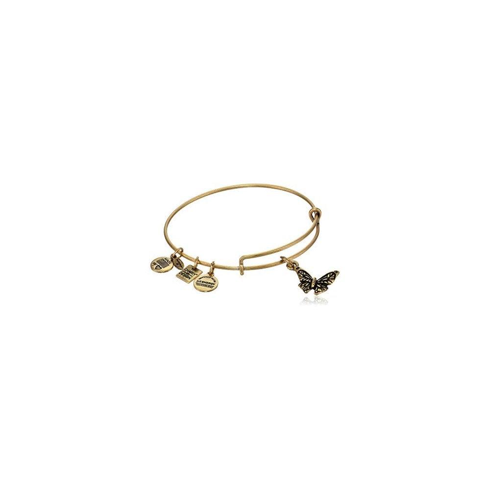 Alex Ani Gold Plated Erfly Pieta House Charity Bracelet