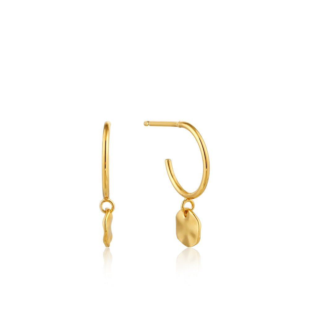 Ania Haie Ripple Hoop Earring Sterling Silver Gold Plated