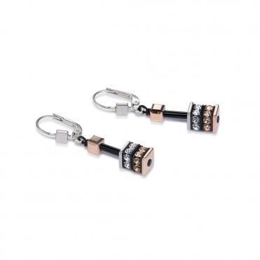 cea4e9e2b Coeur de Lion Black Rose Stone Set German Wire Earrings