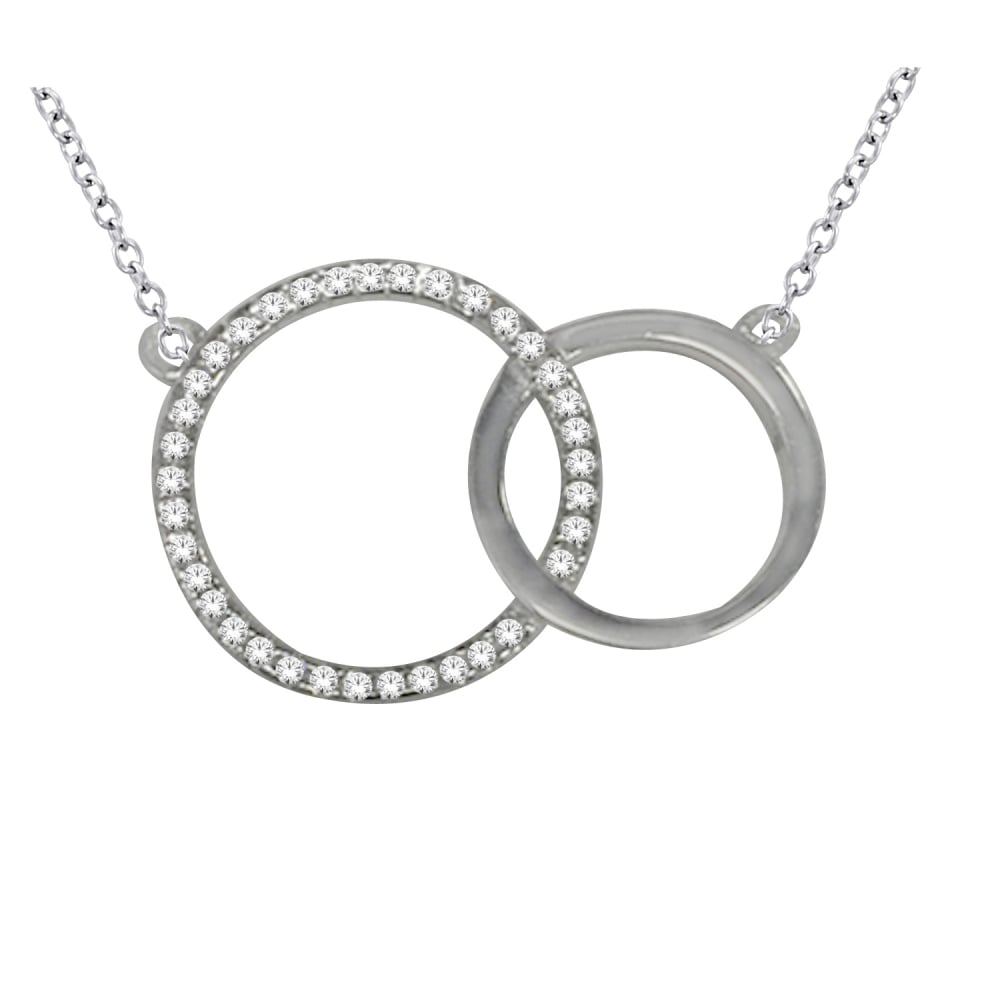 Gerry browne gold diamond double circle pendant products from diamond double circle pendant aloadofball Image collections