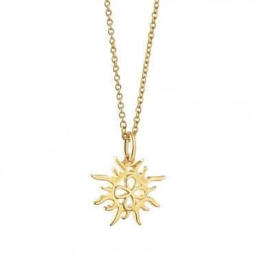 Gold Plated Sun Pendant
