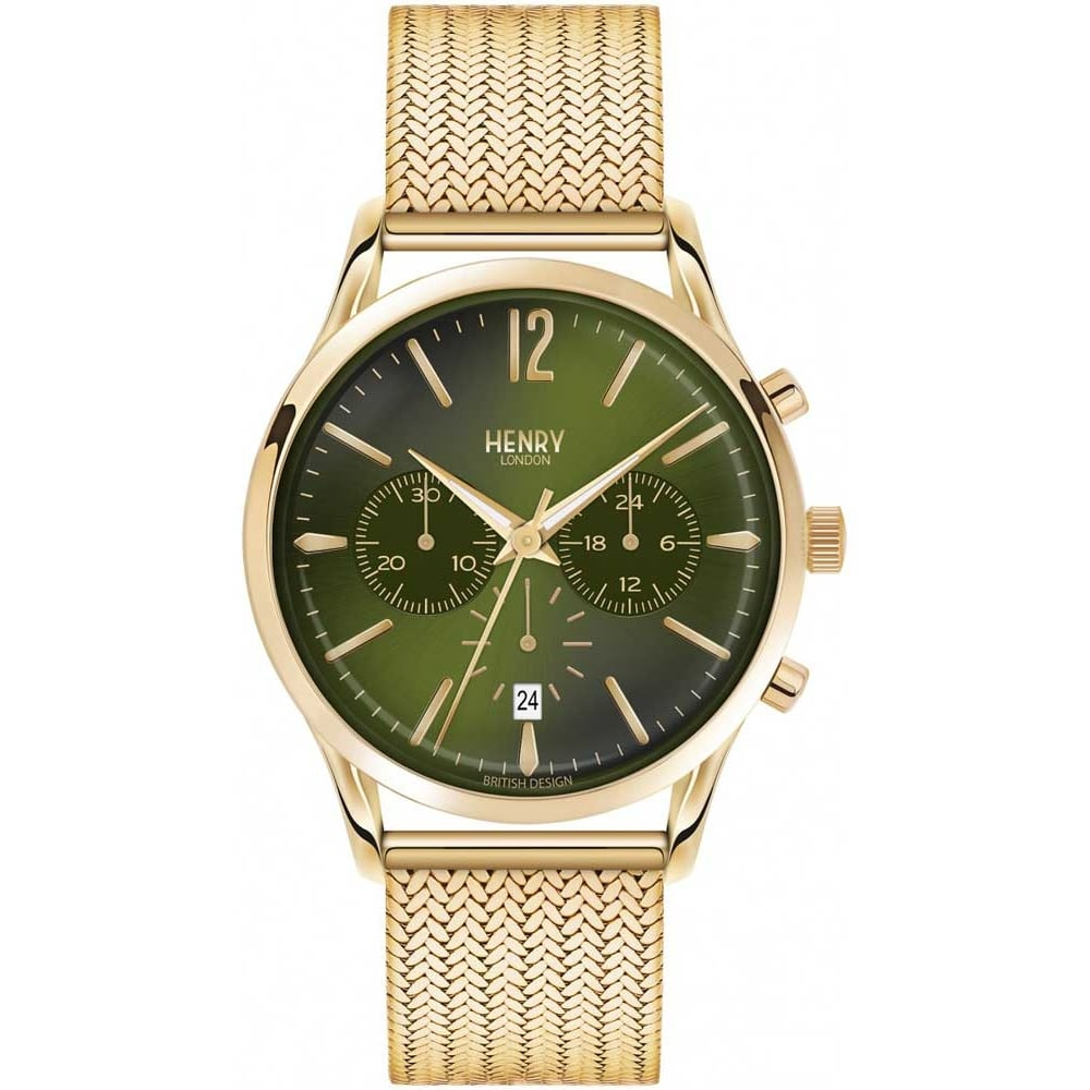 c jewellers am watches green k silver heritage watch product henry automatic london