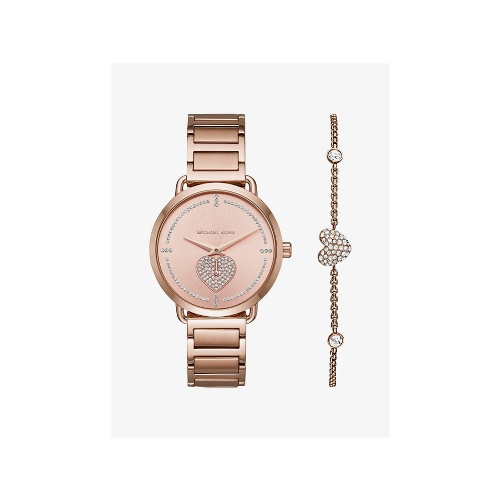 96eb6befdaf6 Michael Kors Rose Gold Plated Ladies Watch Set
