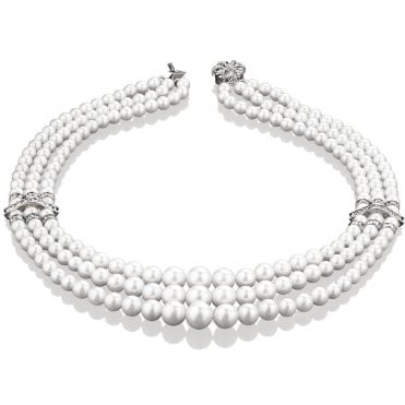 Newbridge Triple Pearl Necklet