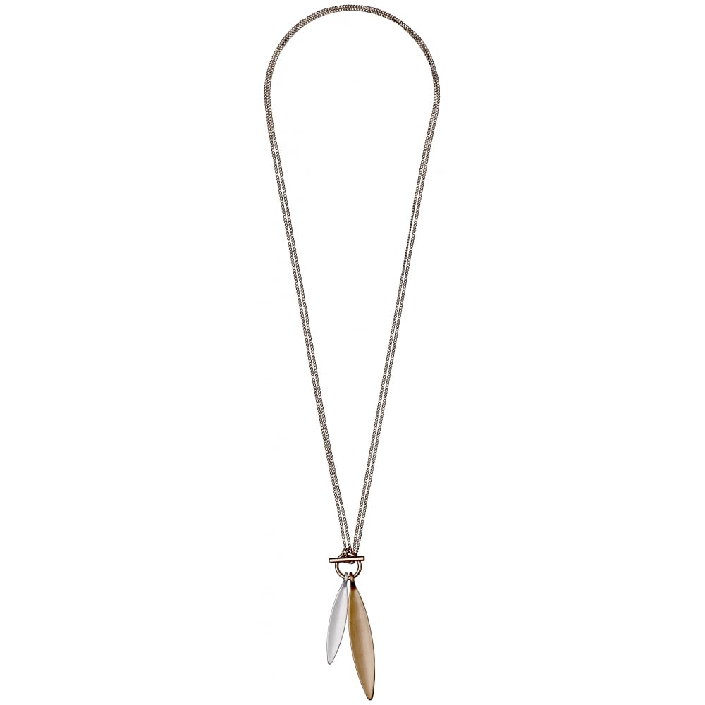 leaf bonas celestine brown pendant oliver necklace jewellery