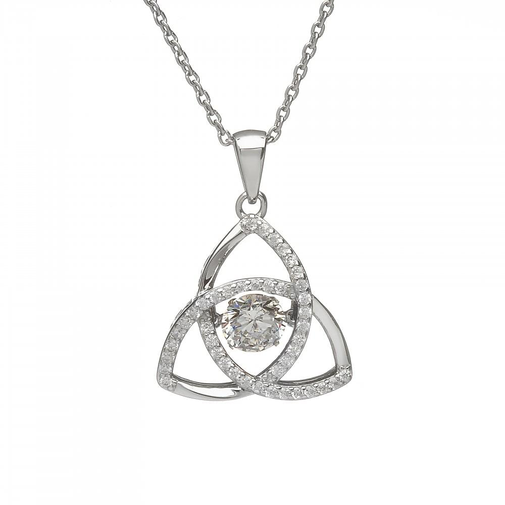 Pure silver birthstone trinity pendant products from gerry browne tap image to zoom april birthstone trinity pendant aloadofball Gallery