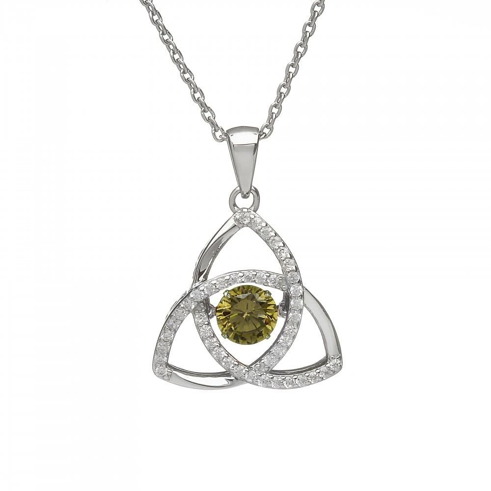 Pure silver birthstone trinity pendant products from gerry browne birthstone trinity pendant aloadofball Image collections