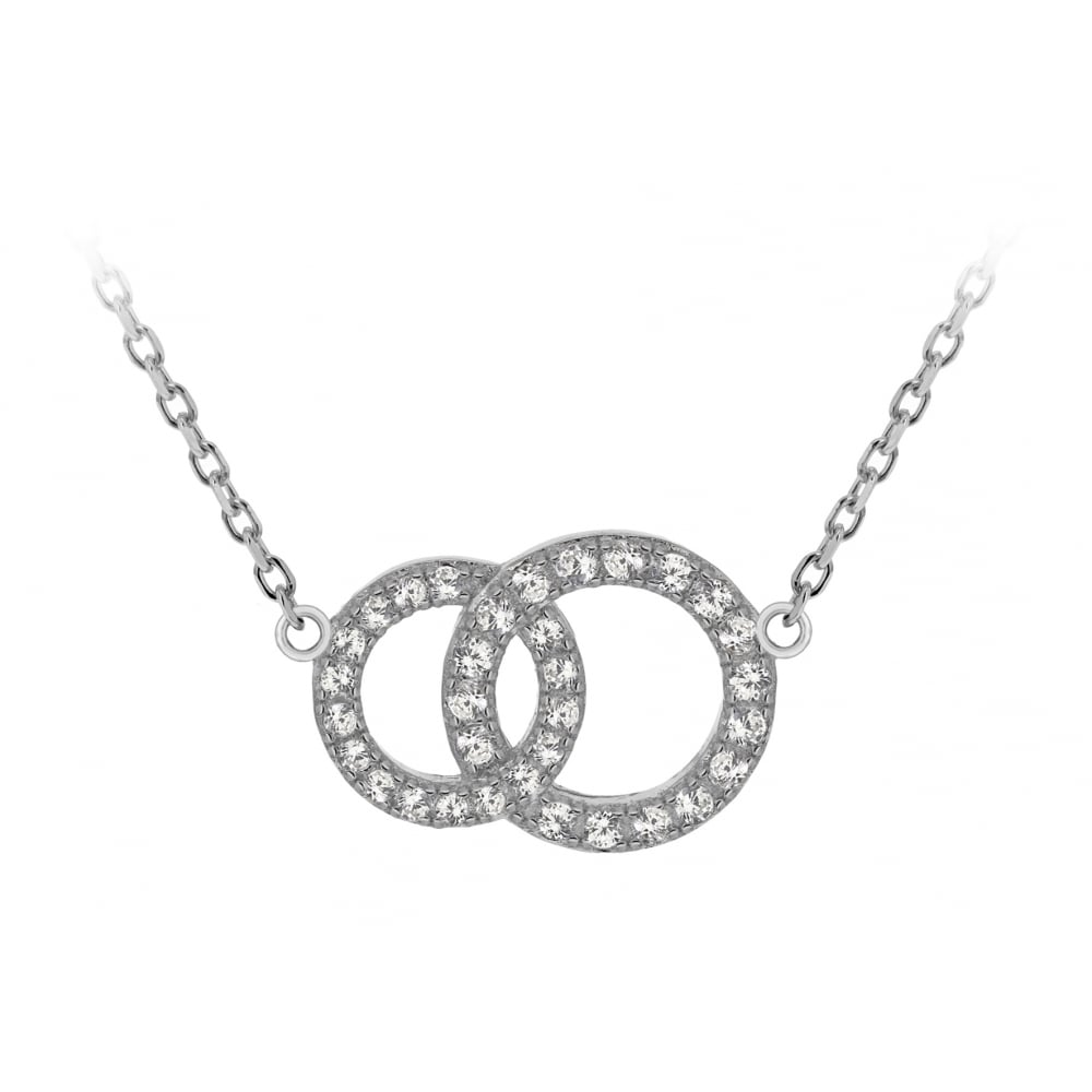Pure silver double circle pendant products from gerry browne double circle pendant aloadofball Image collections