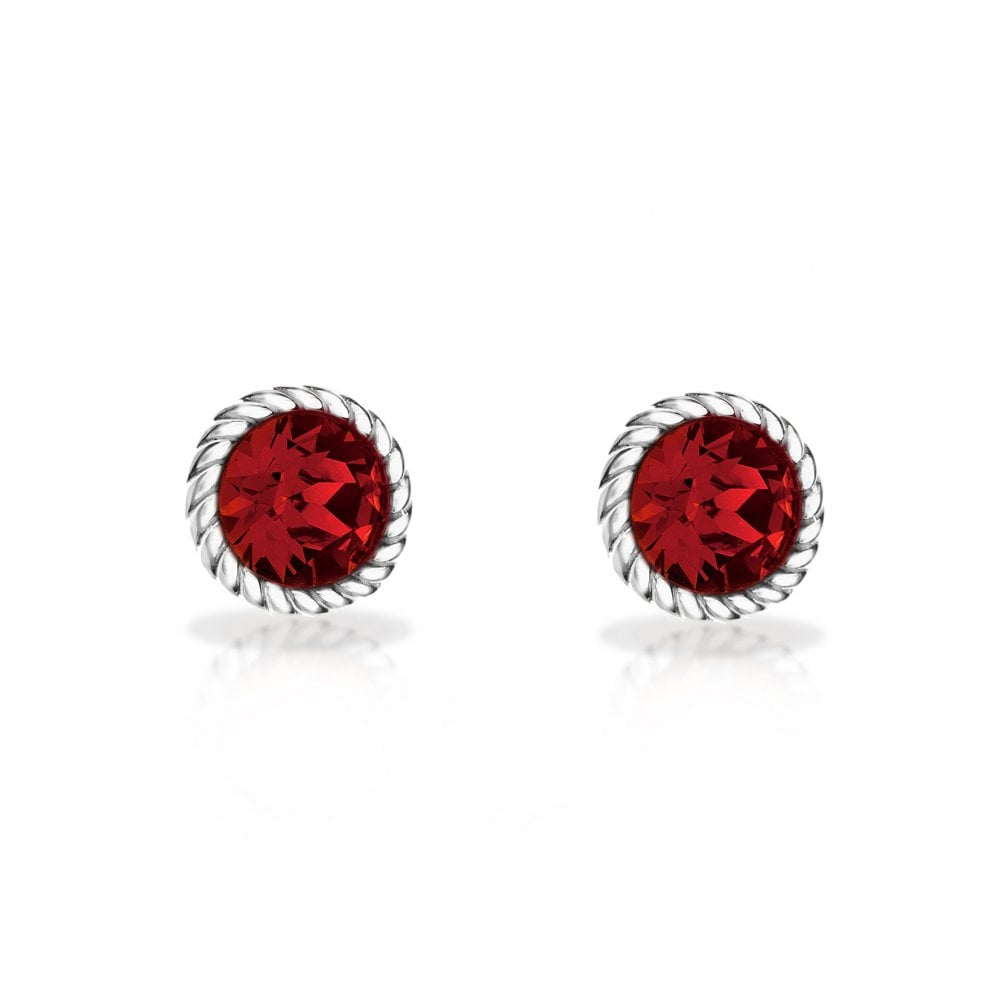 15b38c05a PURE Silver Pure Sterling Silver Red Stone Stud Earring - Products ...