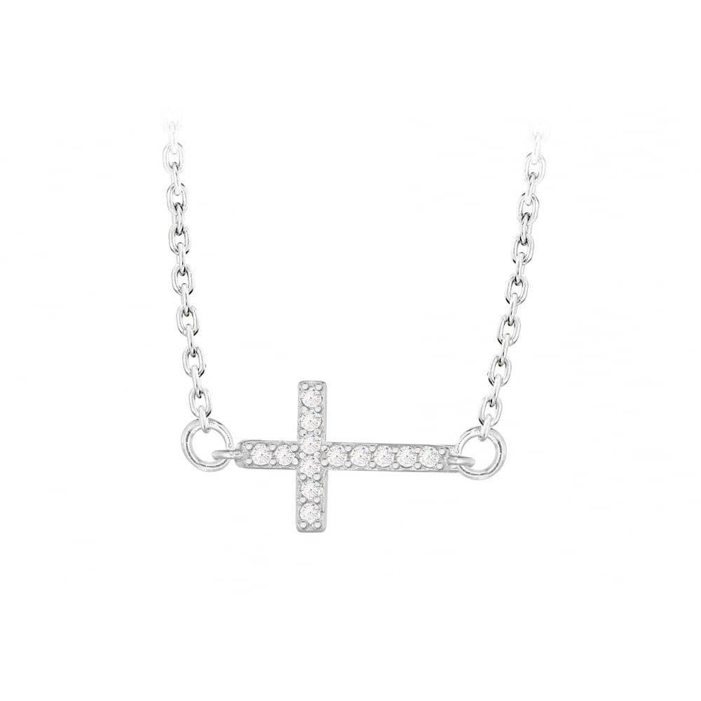 Pure silver sideways cross pendant products from gerry browne sideways cross pendant mozeypictures Images